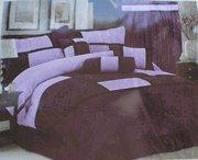China High Quality Micro Suede Comforter Set bedding-in-a-bag, purple - lavender wholesale