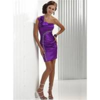 China Prom Dress with Single Strap Short Length wholesale