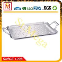 BBQ Grill Topper 17.3 x 11.8-Inch Stainless steel rectangular grid