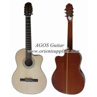 Wholesale 39inch OEM Cutaway Bleach Spruce Top Classical guitar CG3921C-B from china suppliers