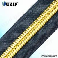 China 3 Inch Classic Nylon Coil Zippers with Gold Teeth wholesale