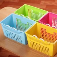 New design colorful plastic storage basket with hook