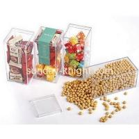 China Custom retail display stands plastic acrylic food candy storage box FSK-044 wholesale