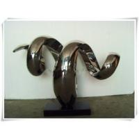 China Stainless Steel Abstract Sculpture Snake Shape wholesale