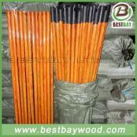 China PVC Coated Wood Broom Sticks PVC Cover Wooden Mop Stick wholesale