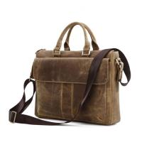 China China factory wholesale brown leather business laptop bag briefcase for man wholesale