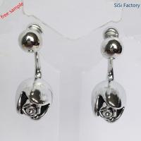 China special earring Silve rose shaped earring for lady wholesale