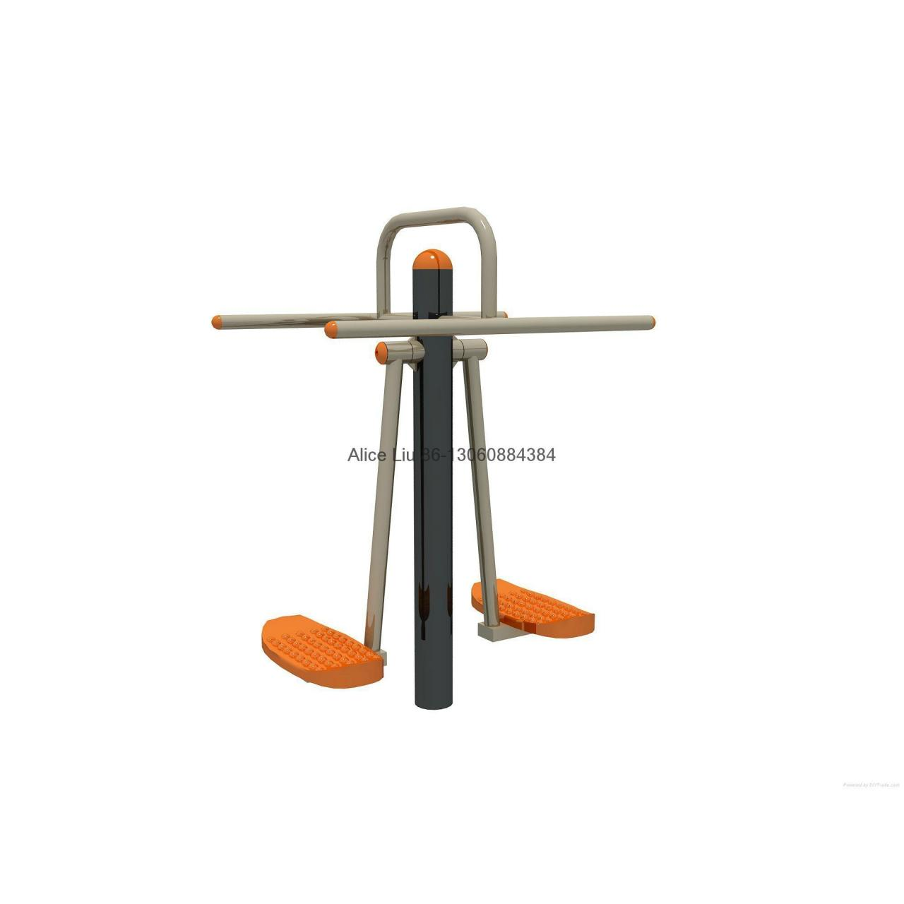 China Double wave plate park steel outdoor fitness equipment wholesale