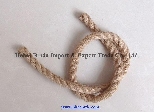China 3 Strands Twisted Jute Rope,Natural Jute Rope