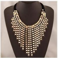 Cheap wholesale exaggerate gorgeous gold jewelry layer golden tassels necklace