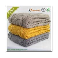 Cable Knitted Blanket Factory China Wholesale Acrylic Throw Cable Knit Blanket