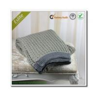 China Cable Knitted Blanket King Size Acrylic Blanket In China Knitted Blanket wholesale