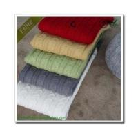 China Cable Knitted Blanket wholesale