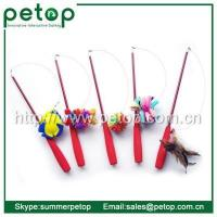 China Cat Scratcher Telescoping Fishing Rod Spin Feather Wand Cat Teaser wholesale