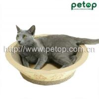 China Cat Scratcher PT1009 Recycled paper Corrugated cat scratcher lounge Cat Bed wholesale