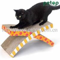 China Cat Scratcher PT1008 Good Selling Shaped Cat Scratcher Lounge Bed wholesale