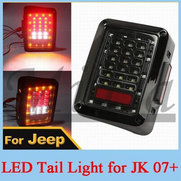 Car Integrated Full function LED Tail Light For Jeep ...