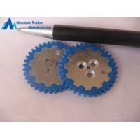 China Custom Blue Abrasion Resistance Silicone Rubber Gear Wheel rings, Rubber to Metal Bonding wholesale