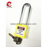 Buy cheap ZC-G21 Yellow ABS / Stainless Steel / Nylon Xenoy Safety Padlock from wholesalers