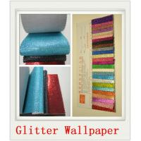 China Custom White Glitter PU Wallpapers wholesale
