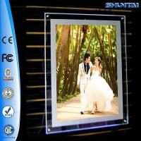 Wall hanging transparent screw picture crystal slim light box