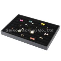 China New Style Wholesale Velvet Earrings Ring Jewelry Tray wholesale