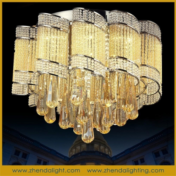 Led Ceiling Lights Made In China : Made in china fashion modern flush mount led crystal