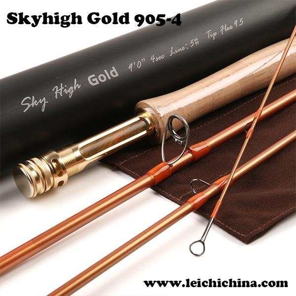 Best skyhigh 9054 gold fly fishing rod of flyfishingchina for Best fly fishing rods
