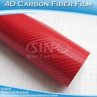 Super Glossy Red 4D Carbon Fiber Vinyl Sticker