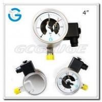 China Electric contact pressure gauges 4 inch dial with all stainless steel bottom connection wholesale