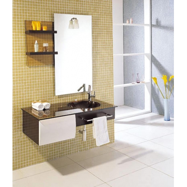 Model hot cheap wood bathroom cabinet fl032 images view for Waterproof bathroom cabinets