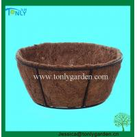 China Wire Planter Baskets Round Basket with Coco Liner wholesale