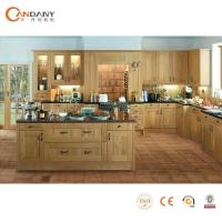 China European wood kitchen cabinet with island wholesale