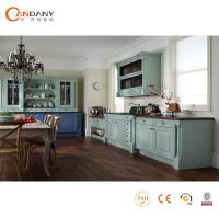 China American style traditional solid wood kitchen cabinet design wholesale