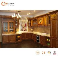 China Modular Solid Wood Kitchen Cabinets Fitted kitchen Design wholesale