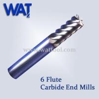 China 6 Blade Tungsten Carbide End Mills for Wholesale wholesale
