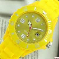 China Fashion silicone bracelet watch with date wholesale