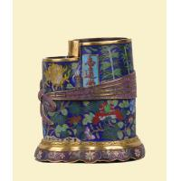 China Gilt filigree enamel volume Shujin bundle wrapped in cloth style pen holder wholesale