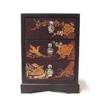 China Inlaid 3-Drawer Chest - Apricot Blossoms on sale
