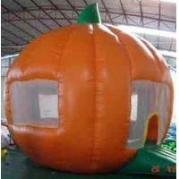China Round orange Inflatable Outdoor Yard Party Tent For Trading Show wholesale