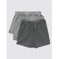 China Underwear Pure Cotton Easy to Iron Monochrome Grid Checked Boxers/Underwear wholesale