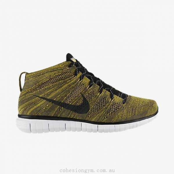 Quality Men's Shoes 639700-300 Nike Free Flyknit Chukka Tarp Green/Seaweed/Gold Lead/Black for sale