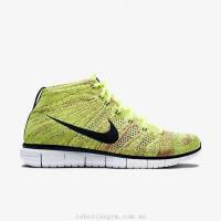 China Men's Shoes 639700-700 Nike Free Flyknit Chukka Volt/Fuchsia Flash/Lyon Blue/Black wholesale