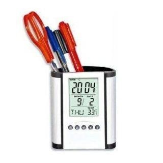China Sunglasses Pen Stand Digital Desk Clock Watch with Alarm