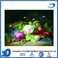 China Flower 3d advertising poster in types of flowers pictures with a frame wholesale