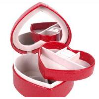 Leather Case red leather jewelry box Jewelry Case THD-06