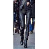 China Leather Jacket Women's Skinny-fit Leather Trouser wholesale