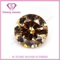 Buy cheap Cubic Zirconia(CZ) Round brilliant cut loose champagne topaz gemstone from wholesalers