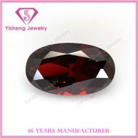 Buy cheap Cubic Zirconia(CZ) Oval faceted sharp bottom red garnet for earring from wholesalers