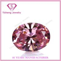 Buy cheap Cubic Zirconia(CZ) Oval Faceted Pink CZ Cubic Zirconia from wholesalers